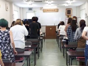 今日は1学期の終業式(^O^)